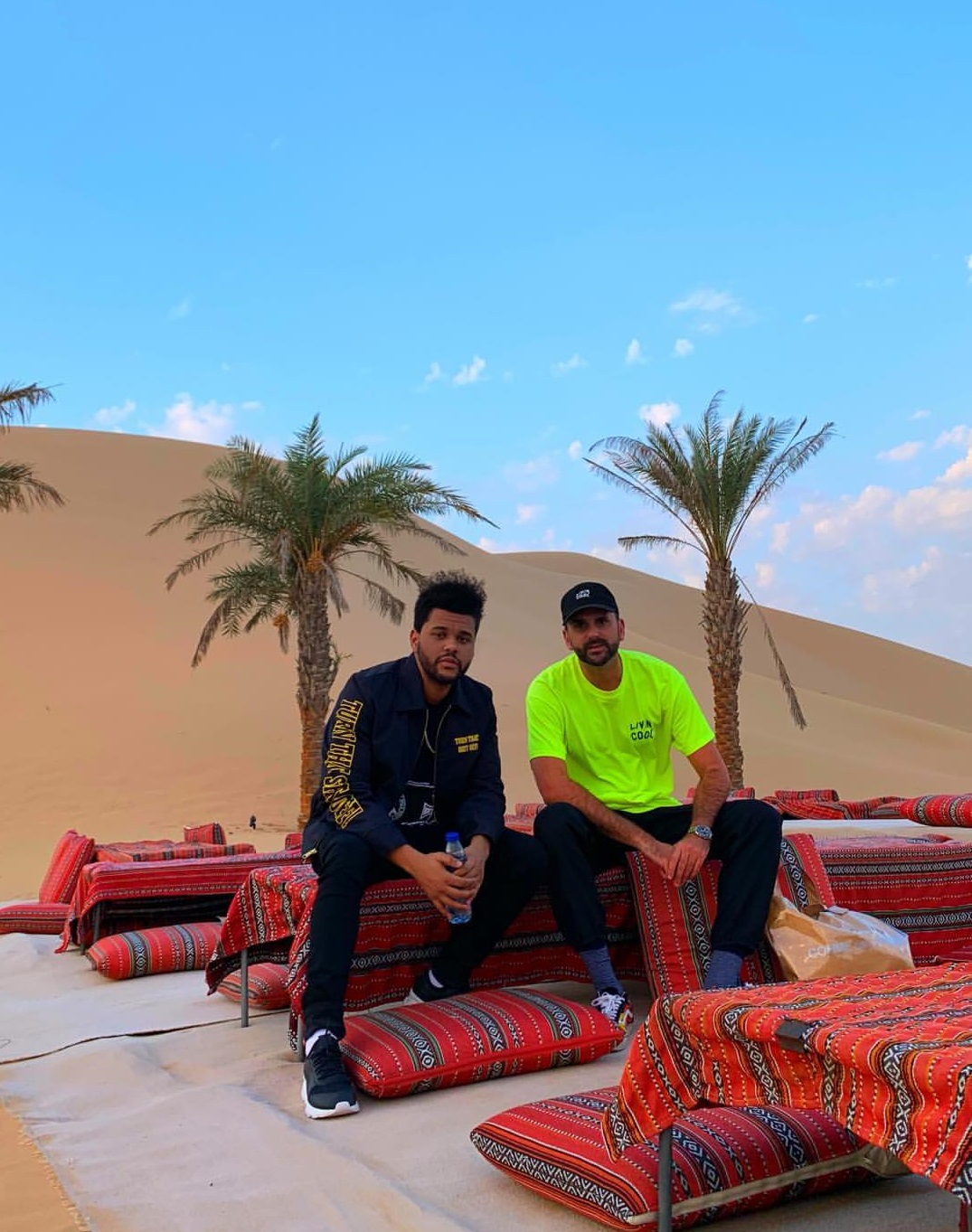 Bella Hadid and The Weeknd in Abu Dhabi 1