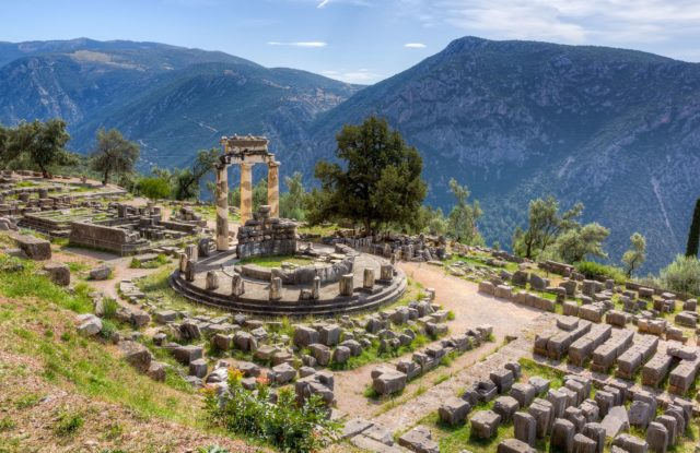 The ancient ruins of Delphi, a UNESCO World Heritage site
