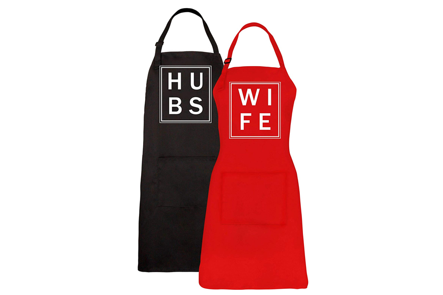 Hubs and Wife Apron Set