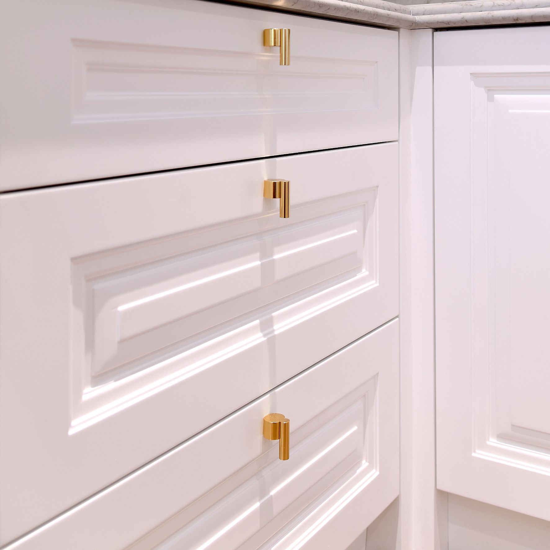 Victory Heights kitchen drawers