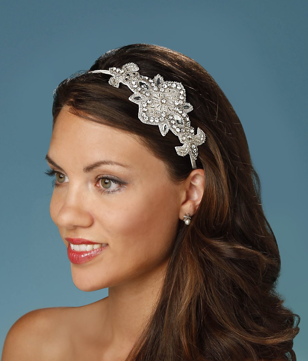 Darice David Tutera Applique Embellished Headband, Cream, AED 41.46