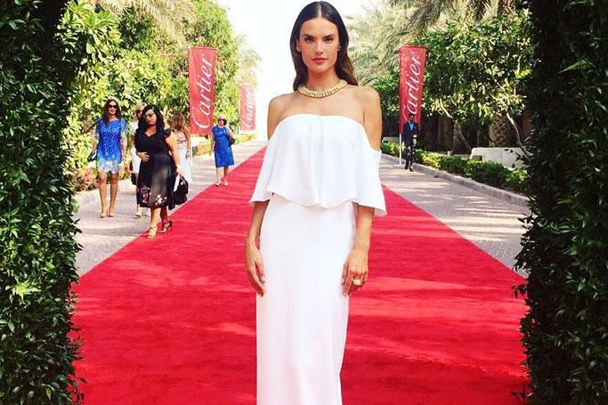 Alessandra Ambrosio is in Dubai