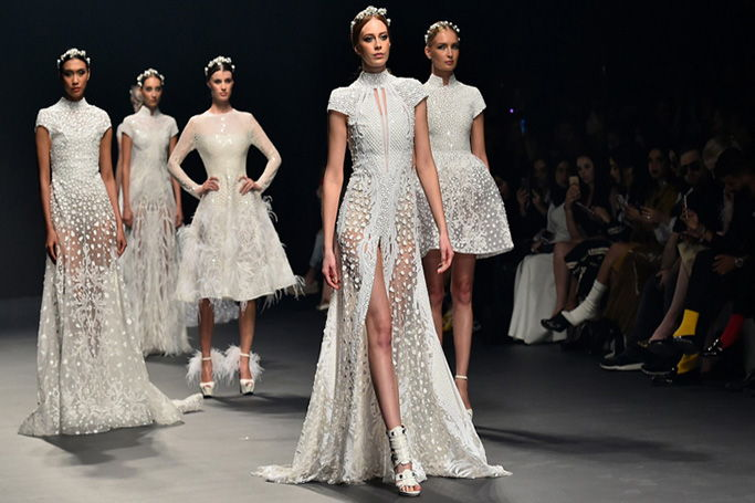 Fashion Forward Dubai Bridal looks from the runway