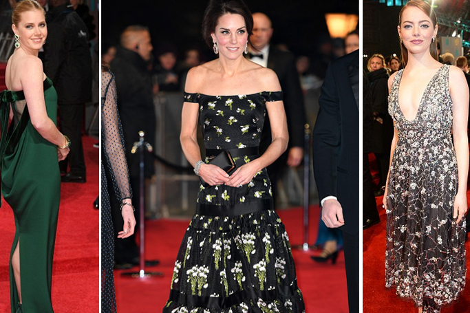 7293298df9f4 Kate Middleton Outshines Hollywood Royalty At BAFTA 2017