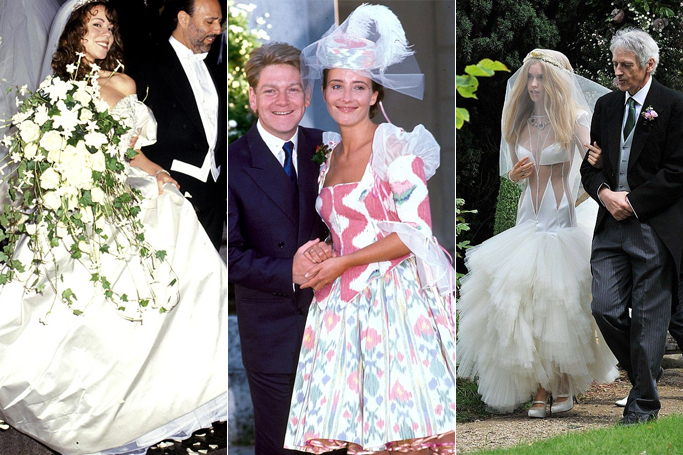 10 celebrity wedding dress disasters ewmoda image credit pinterest junglespirit Gallery
