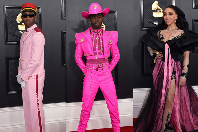 Pink Was the Unexpected Colour of Choice at The Grammy Awards
