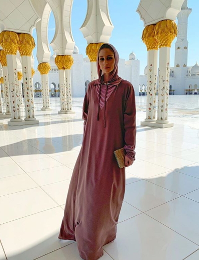 Olivia Palermo at Sheikh Zayed Grand Mosque