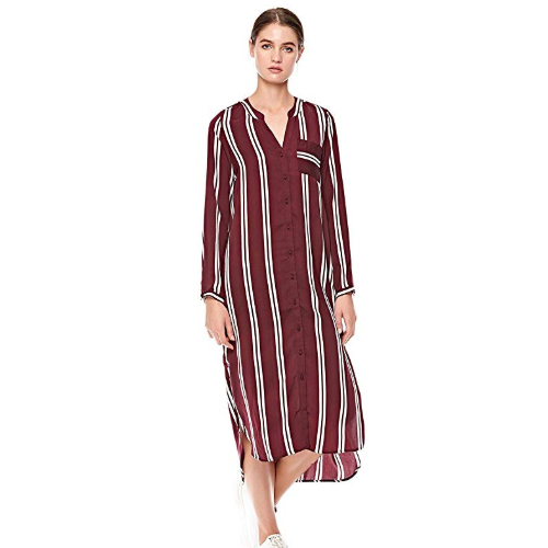 Vero Moda Maroon Dress Shirt