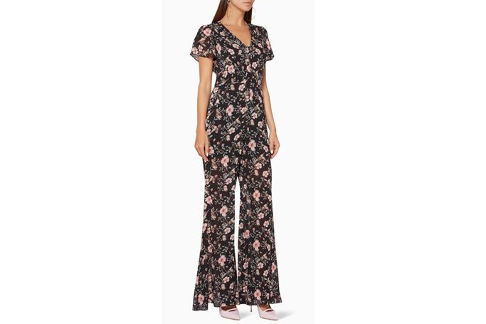 We Are Kindred - Black Floral-Print Harper Jumpsuit
