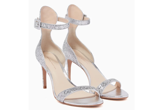 Sophia Webster - Silver Glitter-Embellished Nicole Sandals