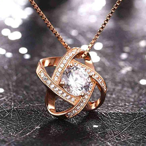 Swarovski Elements 18K Rose Gold Necklace