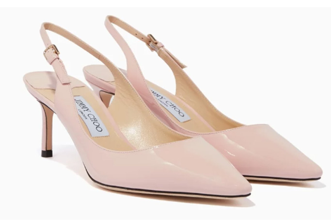 Jimmy Choo - Rosewater-Pink Patent Erin 60 Pumps