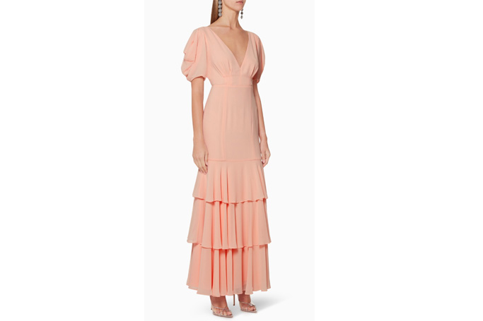 Fame & Partners - The Longina V-Neck Maxi Dress
