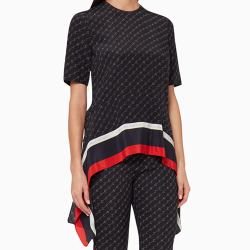 Stella McCartney Monogram Drape Top on Ounass