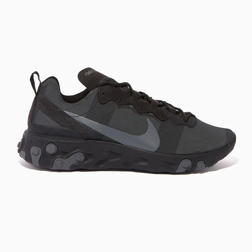 Nike Grey React Element 55 Sneakers