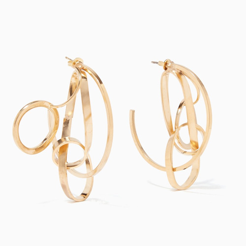 Mounser Gold Coil Sculptural Hoop Earrings on Ounass