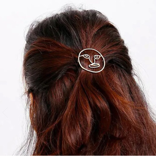 Face Design Round Hairpin