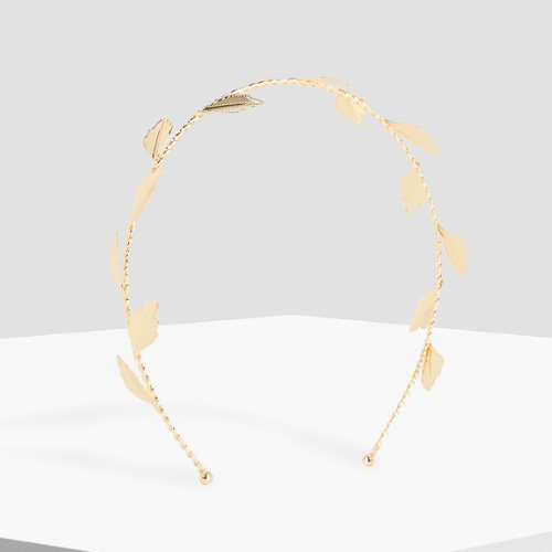 PARFOIS Golden Leaf Detailed Headband