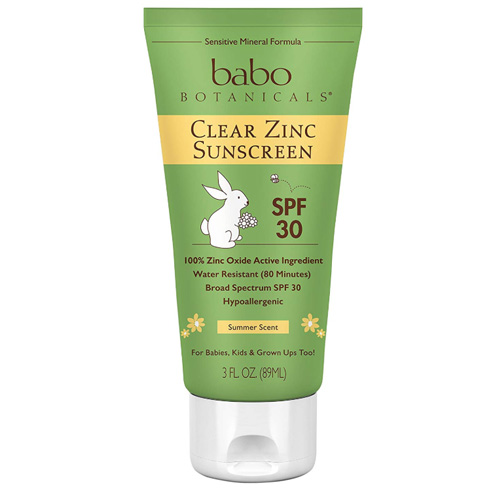 Babo Botanicals SPF 30 Clear Zinc Lotion - 3 Ounces, Best Natural Mineral Sunscreen, Non-Nano, Sensitive