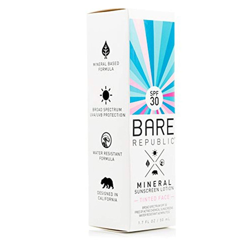 Bare Republic Mineral Tinted Face Sunscreen lotion SPF 30 (1. 7 oz)