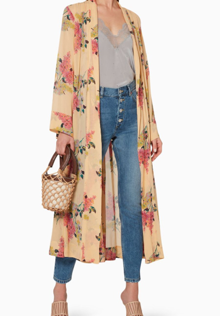 byTiMo Semi Couture Floral Kaftan