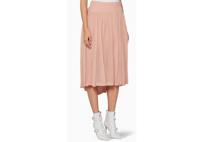 Stella McCartney - Rose-Pink Pleated Andrea Skirt