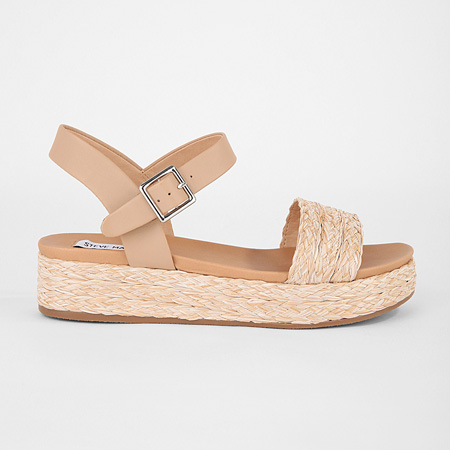 Beige and nude Abbie sandals by Steve Madden