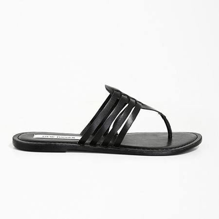 Black Callie thong sandals by Steve Madden