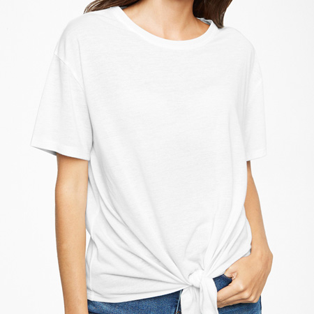 New Look White Tie-Front T-Shirt