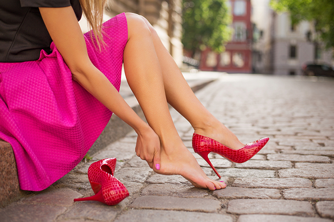 walk in heels without pain