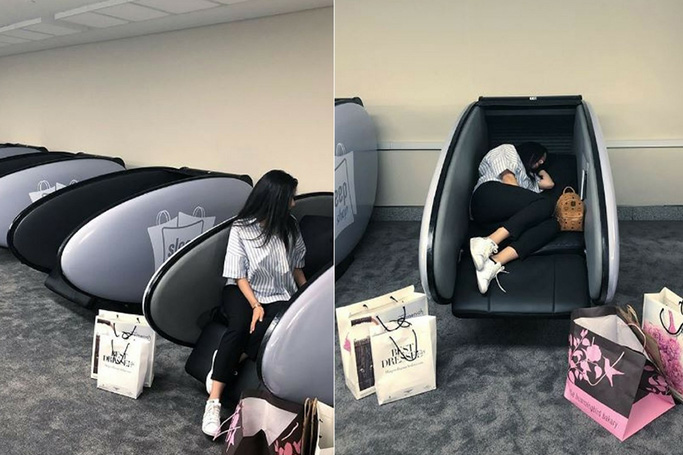 The Dubai Mall Has A Sleep Pod Lounge For Tired Shoppers