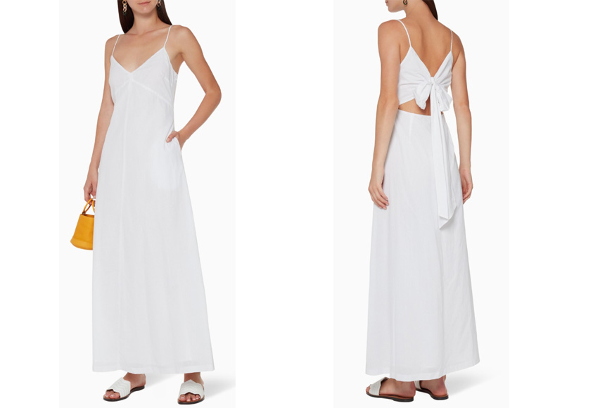 Club Monaco - V-Neck Cotton Maxi Dress