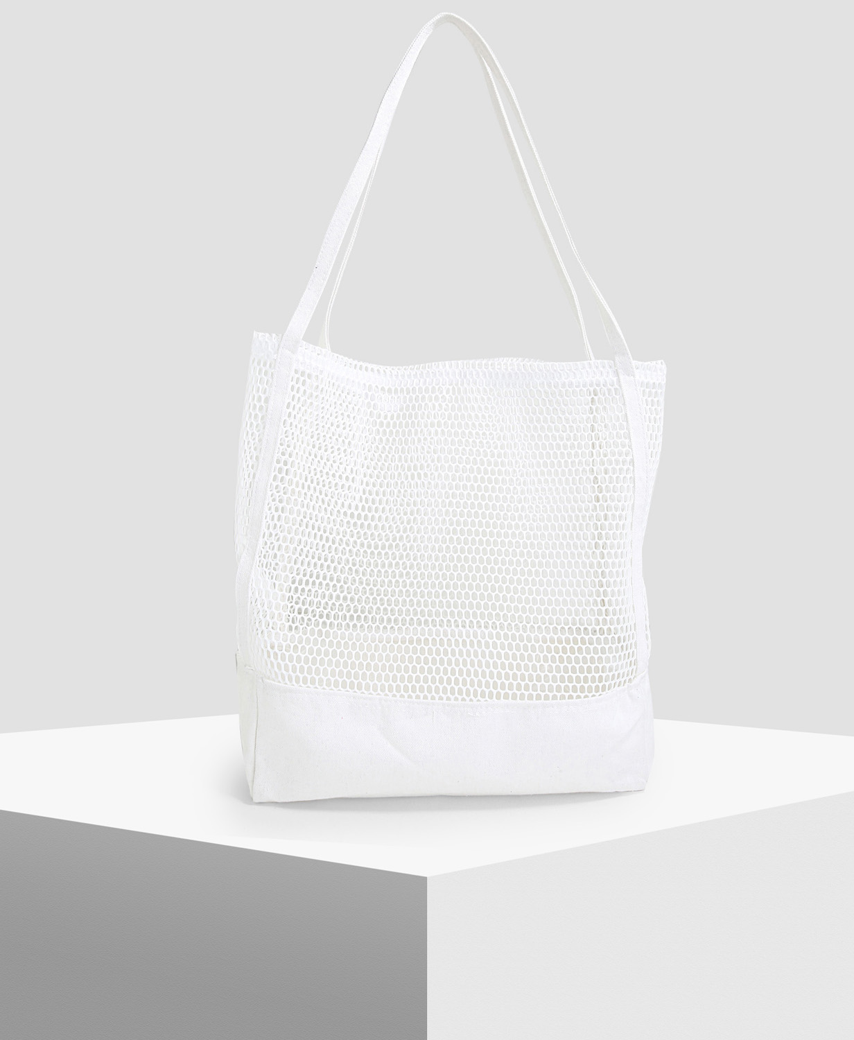 Shoexpress Off-White Net Beach Bag