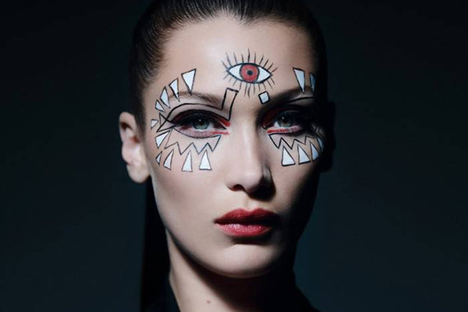 Bella Hadid Halloween Makeup