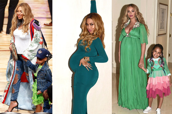 beyonce maternity fashion