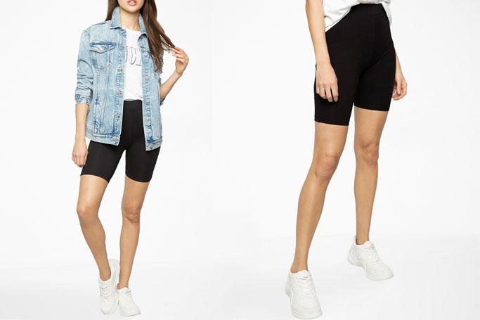 Biker shorts trend