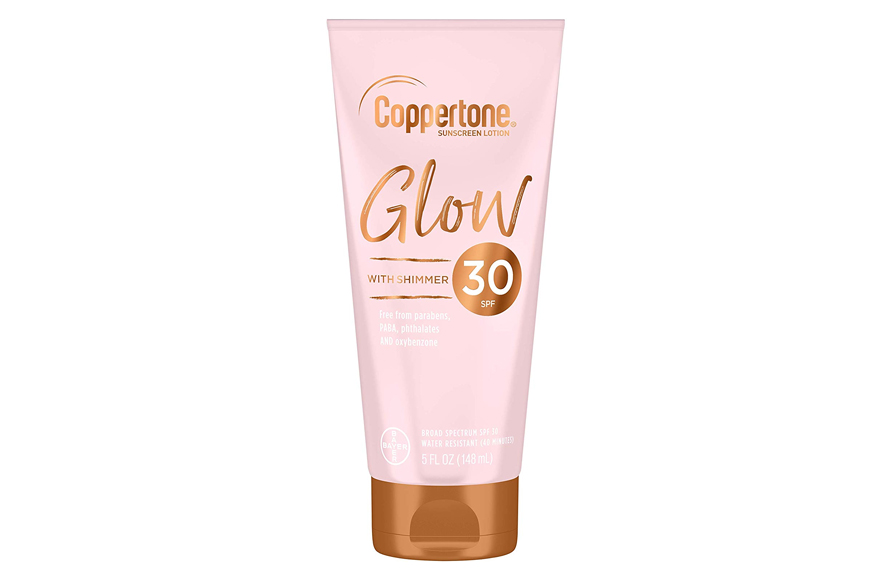 Coppertone Glow Sunscreen Lotion with Shimmer