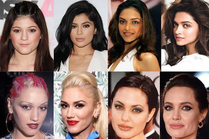 celebrity eyebrow before and after