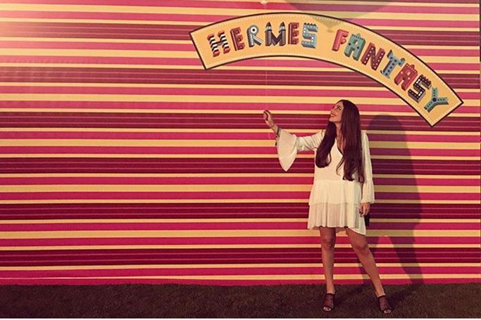 Dubai's Best Dressed: Hermès Fantasy At Burj Park