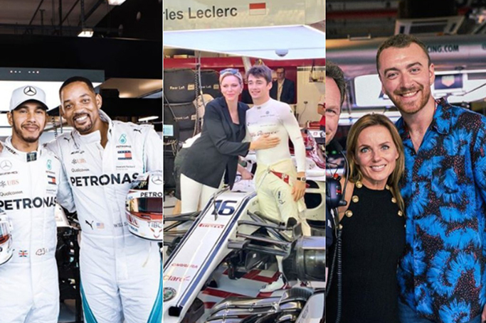Celebrities at the Abu Dhabi Grand Prix 2018