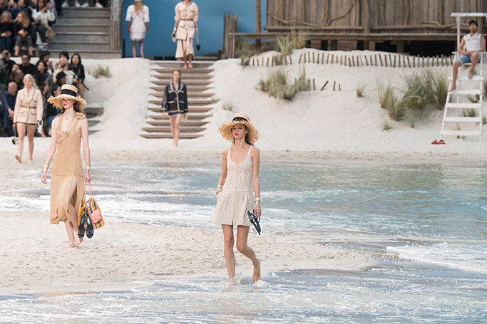 Chanel Beach Runway, SS19 Paris Fashion Week