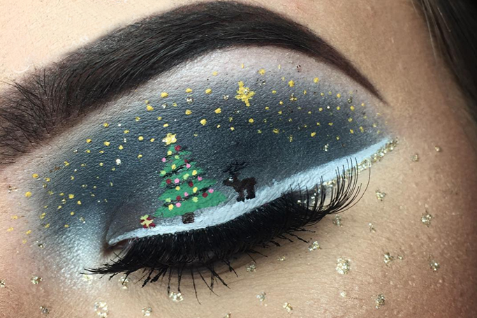 Christmassy Eye Makeup Looks