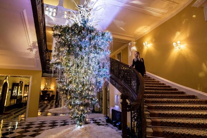 Upside-down Christmas trees are trending