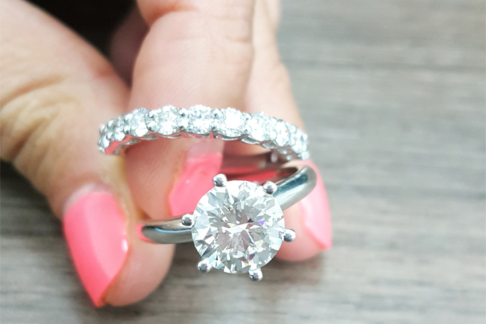 Matching your wedding band to your engagement ring