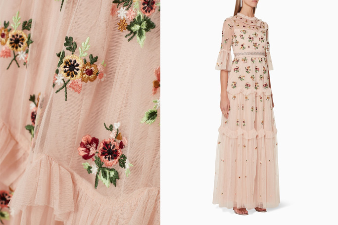 Needle & Thread Magdalena Embroidered Gown