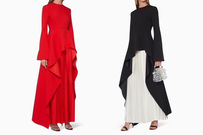 Solace London Belle Peplum Maxi Dress