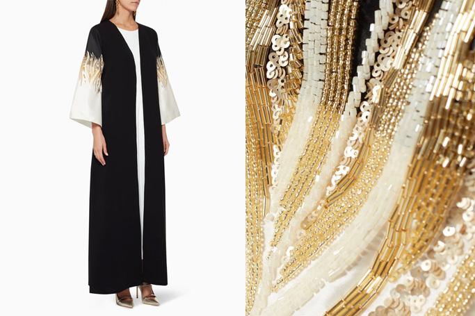 Illustrella Flame-Bead Embroidered Abaya