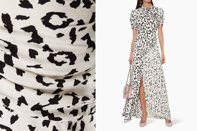 Self-Portrait Leopard-Print Crepe Maxi Dress