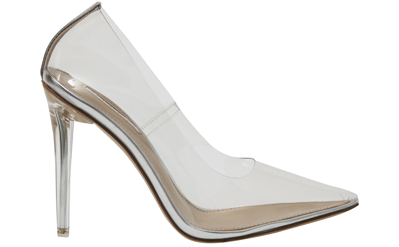 Transparent Heel Court Shoes