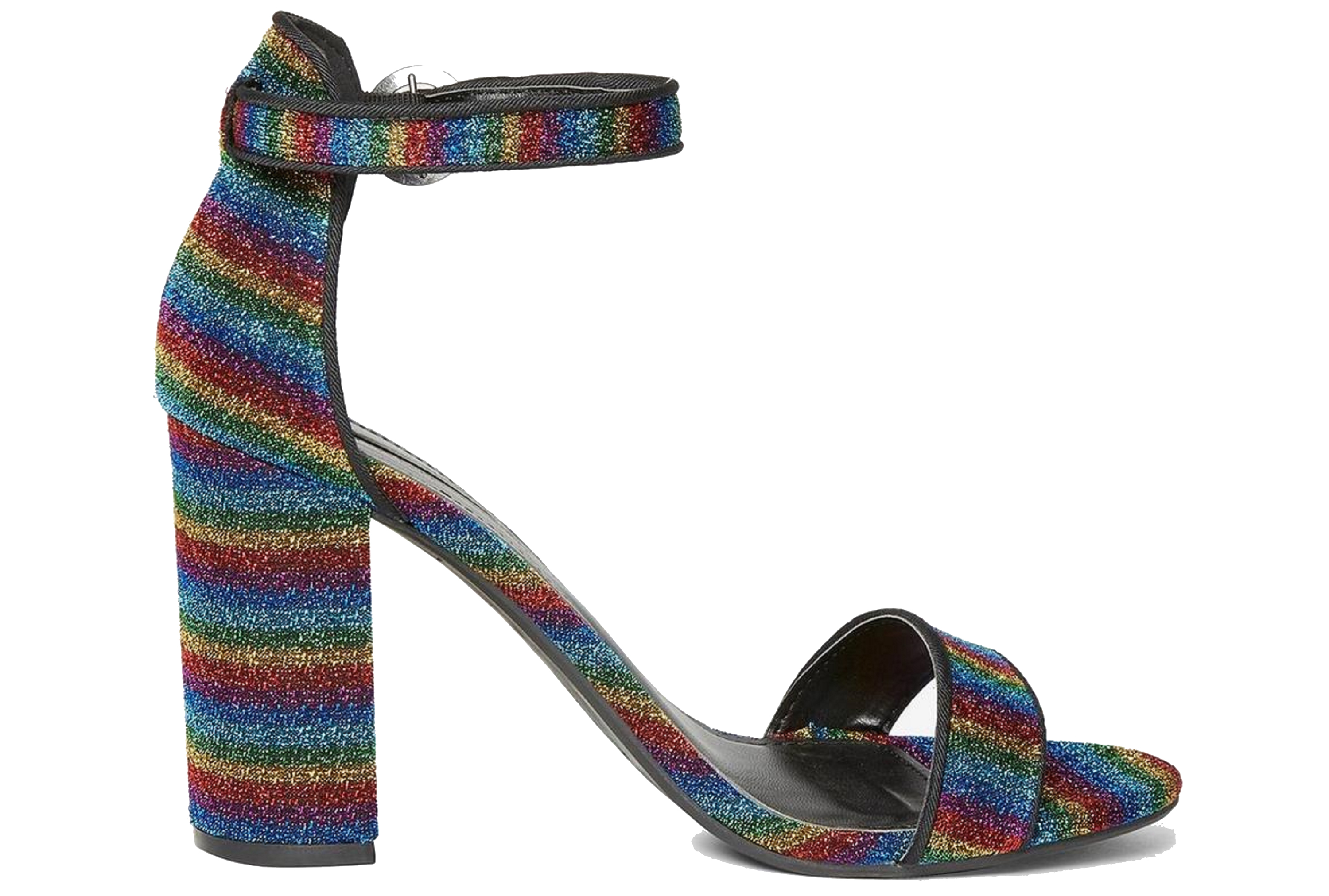 Multi Coloured Shimmy Heeled Sandals